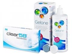 Clear 58 (6 soczewek) +płyn Gelone 360ml
