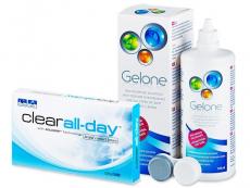 Clear All-Day (6 soczewek) +płyn Gelone 360ml