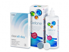 Clear All-Day (6 soczewek) + płyn Gelone 360 ml