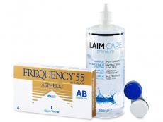 Frequency 55 Aspheric (6 szt) +płyn Laim-Care 400ml