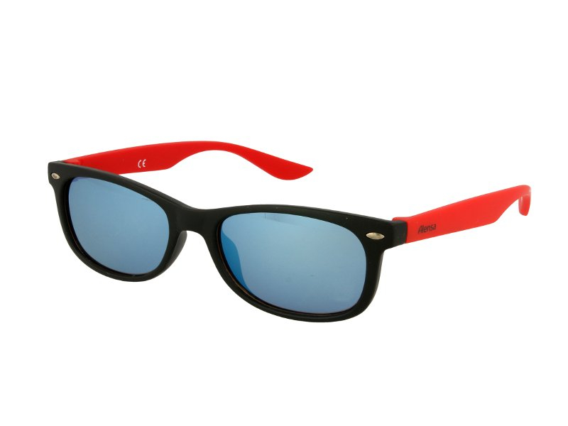 Dziecięce okulary przeciwsłoneczne Alensa Sport Black Red Mirror