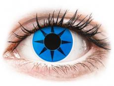 ColourVUE Crazy Lens - Blue Star - zerówki (2 soczewki)