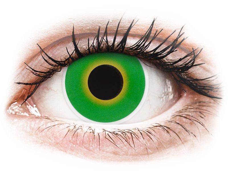 ColourVUE Crazy Lens - Hulk Green - zerówki (2 soczewki)