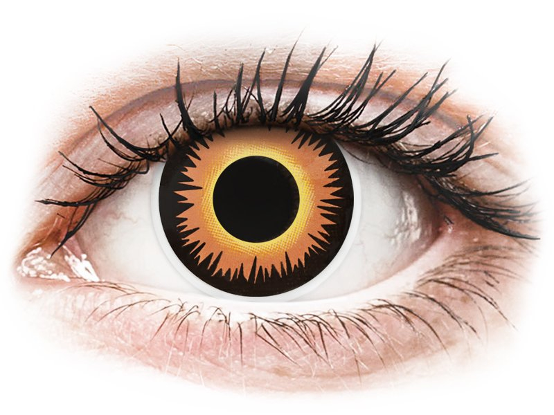 ColourVUE Crazy Lens - Orange Werewolf - zerówki (2 soczewki)