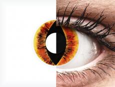 ColourVUE Crazy Lens - Saurons Eye - zerówki (2 soczewki)