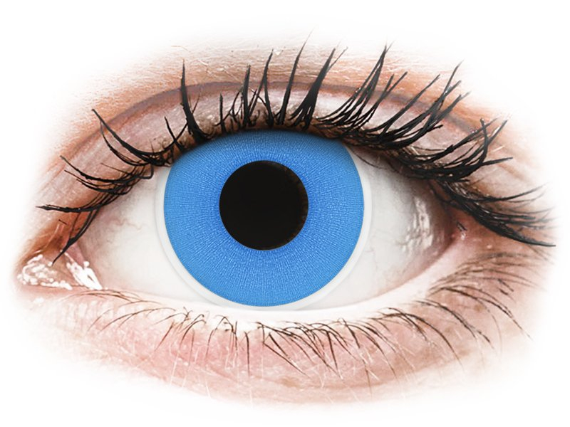ColourVUE Crazy Lens - Sky Blue - zerówki (2 soczewki)