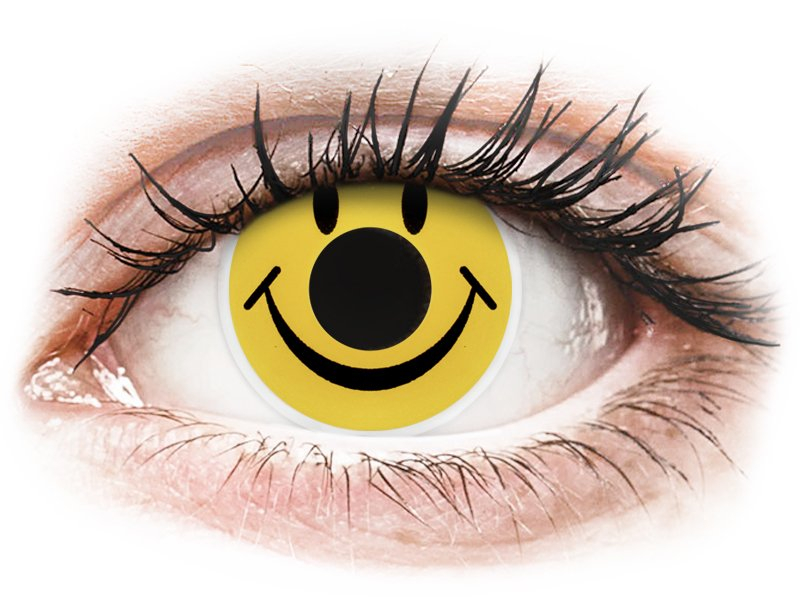ColourVUE Crazy Lens - Smiley - zerówki (2 soczewki)