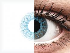 ColourVUE Crazy Lens - Solar Blue - zerówki (2 soczewki)