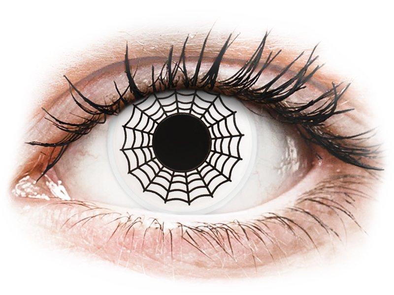 ColourVUE Crazy Lens - Spider - zerówki (2 soczewki)
