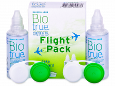 Płyn do soczewek Biotrue Flight Pack 2 x 60 ml