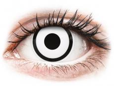 ColourVUE Crazy Lens - White Zombie - zerówki (2 soczewki)