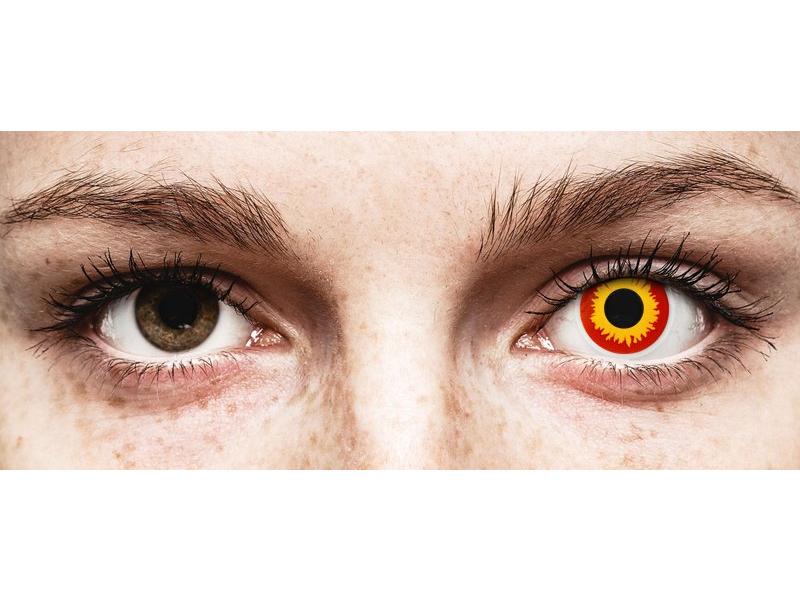 ColourVUE Crazy Lens - Wildfire - zerówki (2 soczewki)