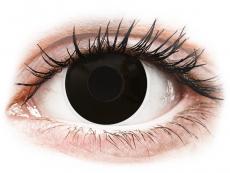 ColourVUE Crazy Lens - BlackOut - korekcyjne (2 soczewki)