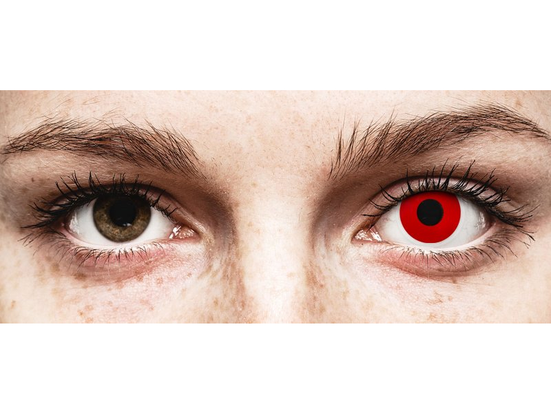 ColourVUE Crazy Lens - Red Devil - korekcyjne (2 soczewki)