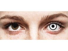 ColourVUE Crazy Lens - White Zombie - korekcyjne (2 soczewki)