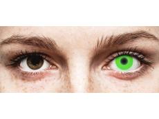 ColourVUE Crazy Glow Green - zerówki (2 soczewki)