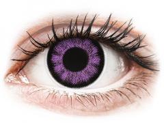 ColourVUE BigEyes Ultra Violet - zerówki (2 soczewki)