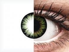 ColourVUE BigEyes Party Green - zerówki (2 soczewki)