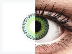 ColourVUE Fusion Green Yellow - zerówki (2 soczewki)