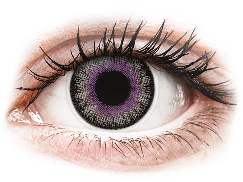 ColourVUE Fusion Violet Gray - zerówki (2 soczewki)
