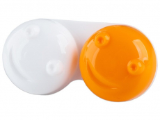 Pojemnik na soczewki 3D - pomarańczowy