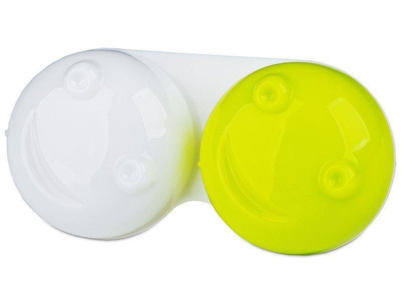 Pojemnik na soczewki 3D - żółty