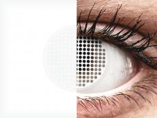 ColourVUE Crazy Lens - White Screen - zerówki (2 soczewki)