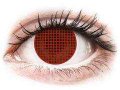 ColourVUE Crazy Lens - Red Screen - zerówki (2 soczewki)
