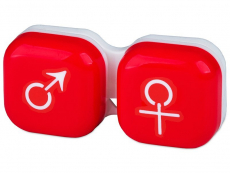 Pojemnik na soczewki man&woman - czerwony