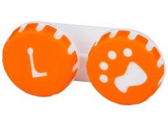 Pojemnik na soczewki Łapka - pomarańczowy