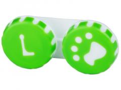 Pojemnik na soczewki Łapka - zielony