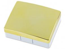 Pudełko na soczewki z lusterkiem Elegant - złote