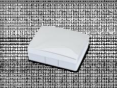 Pudełko na soczewki z lusterkiem Elegant - srebrne