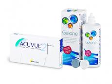 Acuvue 2 (6 soczewek) + płyn Gelone 360 ml