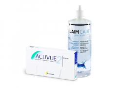 Acuvue 2 (6 soczewek) + płyn Laim-Care 400 ml