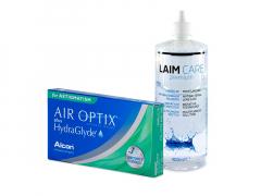 Air Optix plus HydraGlyde for Astigmatism (3 soczewki) + płyn Laim-Care 400 ml