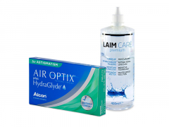 Air Optix plus HydraGlyde for Astigmatism (6 soczewek) + płyn Laim-Care 400 ml
