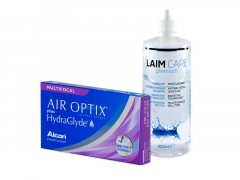 Air Optix plus HydraGlyde Multifocal (3 soczewki) + płyn Laim-Care 400 ml