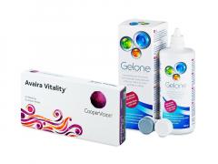 Avaira Vitality (6 soczewek) + płyn Gelone 360 ml