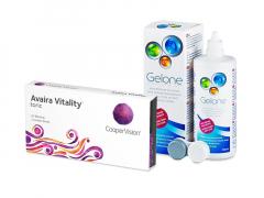 Avaira Vitality Toric (3 soczewki) + płyn Gelone 360 ml
