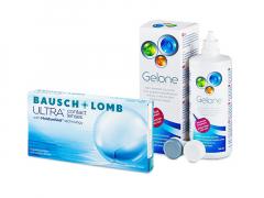 Bausch + Lomb ULTRA (6 soczewek) + płyn Gelone 360 ml