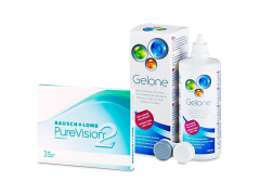 PureVision 2 (3 soczewki) + płyn Gelone 360 ml