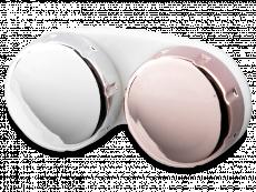 Pojemnik na soczewki kontaktowe z lustrzanym wykończeniem – różowe/srebrne