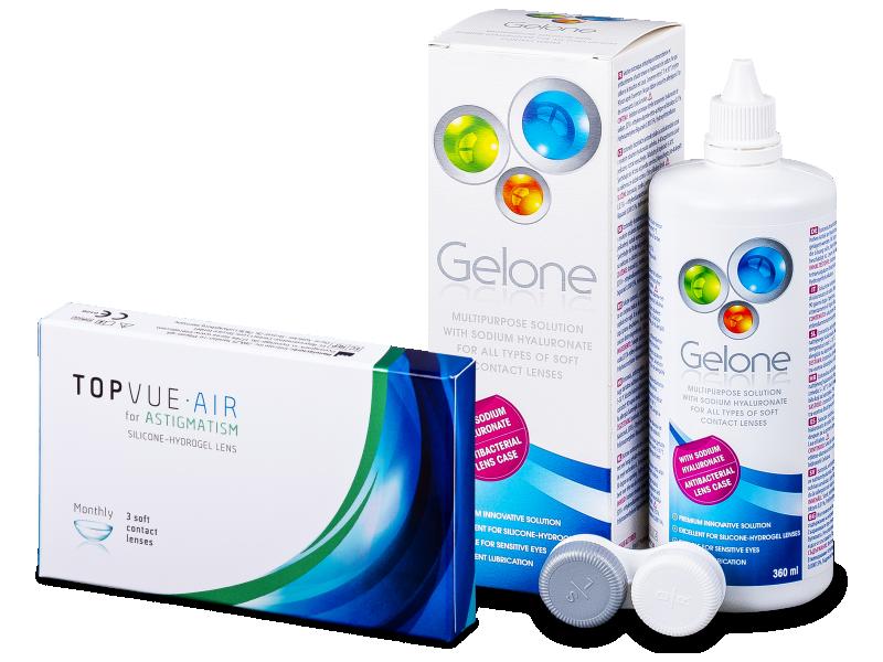 TopVue Air for Astigmatism (3soczewki) + płyn Gelone 360 ml