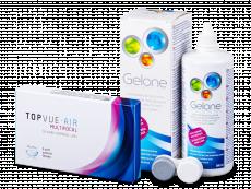 TopVue Air Multifocal (3 soczewki) + płyn Gelone 360 ml