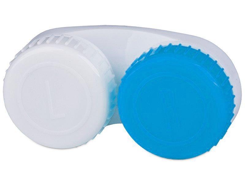 Pojemnik na soczewki niebiesko-biały L+R