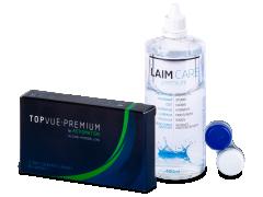 TopVue Premium for Astigmatism  (3 soczewki) +płyn Laim-Care 400ml