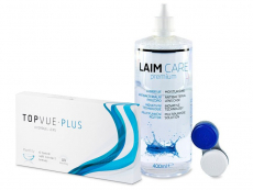 TopVue Monthly PLUS (6 szt) + płyn LAIM-CARE400ml