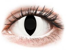 CRAZY LENS - Cat Eye White - jednodniowe zerówki (2 soczewki)