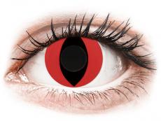 CRAZY LENS - Cat Eye Red - jednodniowe zerówki (2 soczewki)